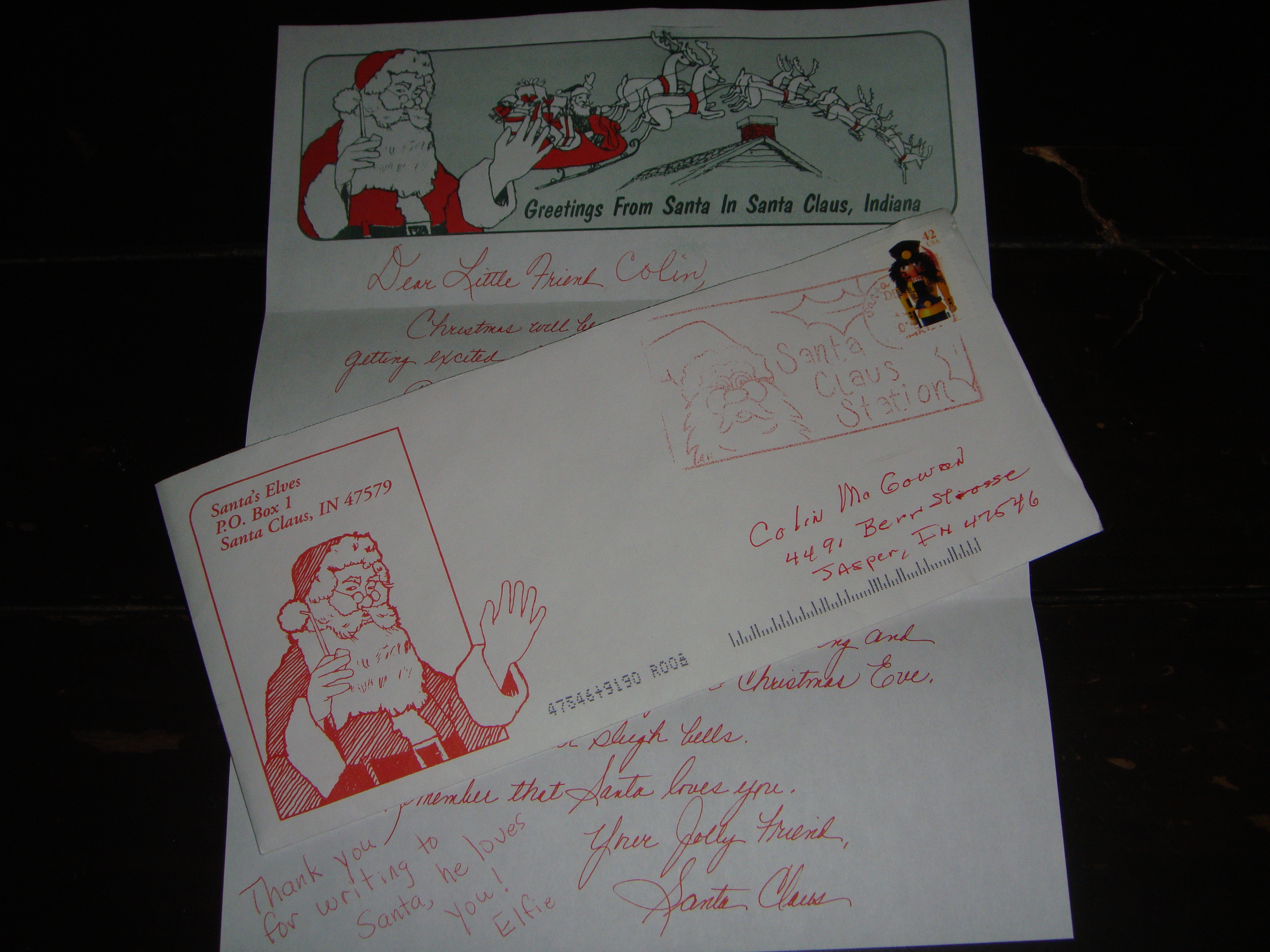Free santa letters free letter from santa claus from santa clause