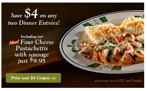 Olive Garden Off Two Meals Coupon Deal Wise Mommy