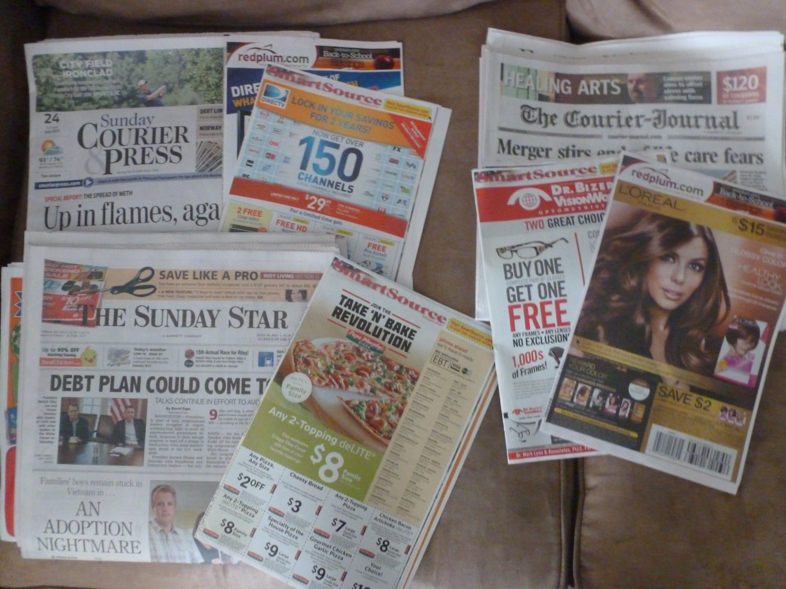 coupons in the sunday paper P&gbrandsaver® is a booklet that offers great savings on p&g products each month, and can be found in most home-delivered sunday newspapers.