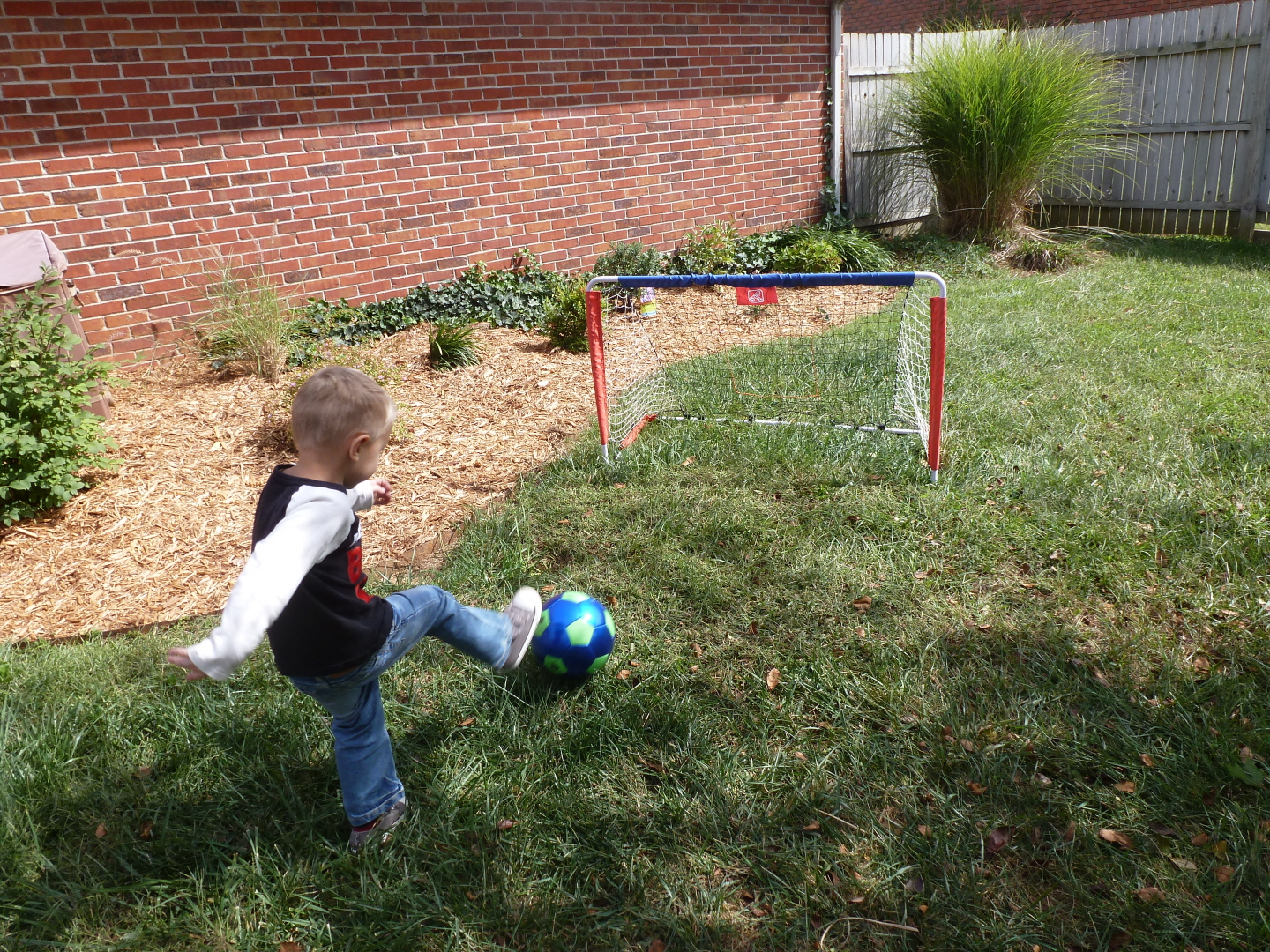 step 2 kickback soccer goal u0026 pitch back review u0026 giveaway ended