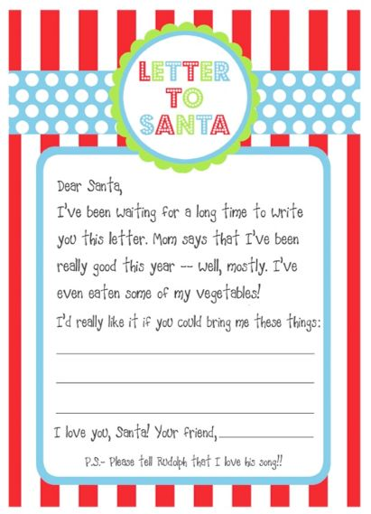 Free Printable Santa Wish List Letters Deal Wise Mommy – Santa List Template
