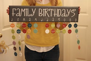 Craft Idea Family Birthday Chart Deal Wise Mommy Coupons
