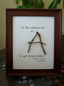Teacher Gift Idea #10: Twig Frame Art | Deal Wise Mommy | Coupons ...