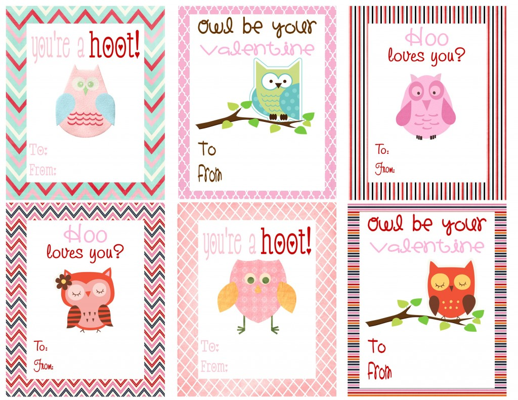 owl and monster valentines - Valentine Day Cards For Kids