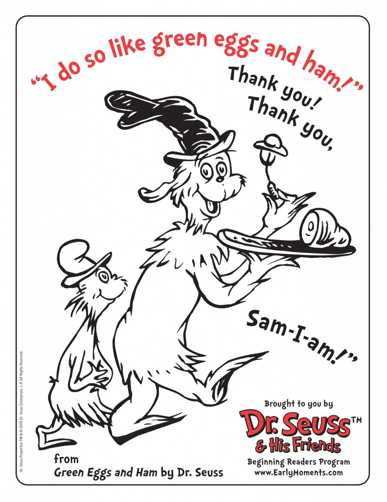 Free Dr Seuss Printable Coloring Activity Sheets Deal Dr Seuss Printable Coloring Pages