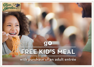 Olive Garden Kids Eat Free With Adult Entree Purchase