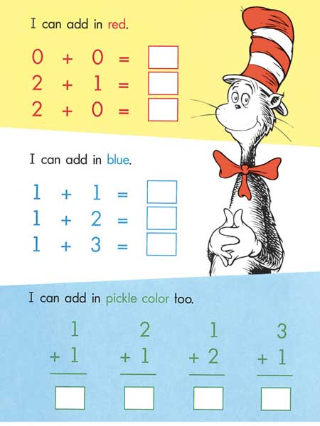The first is the dr seuss addition worksheet found on sunsentinel com