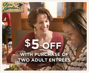 Olive Garden Save 5 Off Two Entree S Through July 21st