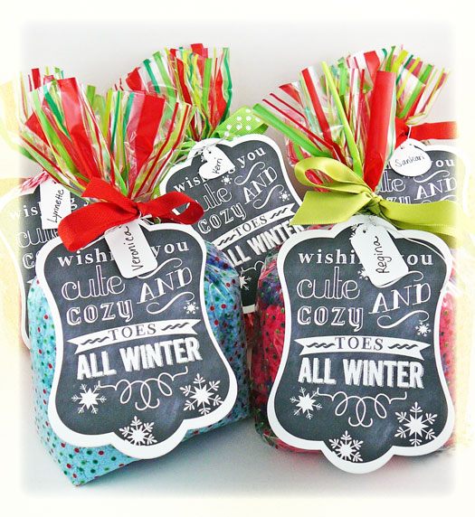 100 Days Of Christmas} Day 17: Cozy Toes Gift Idea + Printable ...