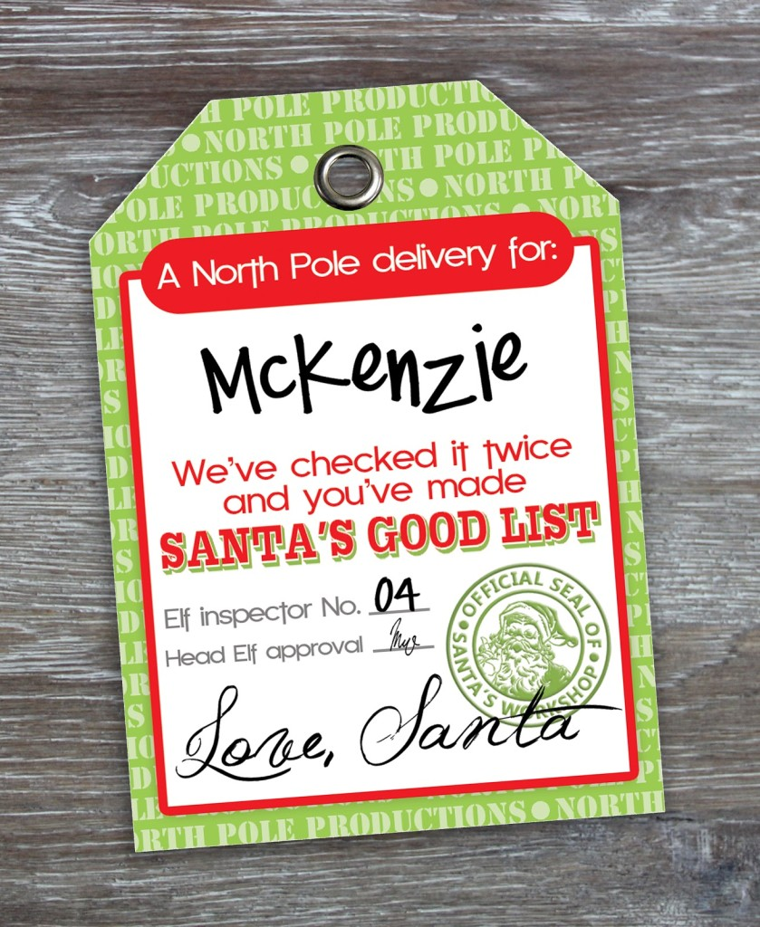 Free Printable Santa Gift Tags {You Can Even Edit To Add Child's ...